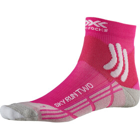 X-Socks Sky Run Two Calcetines Running Mujer, pink